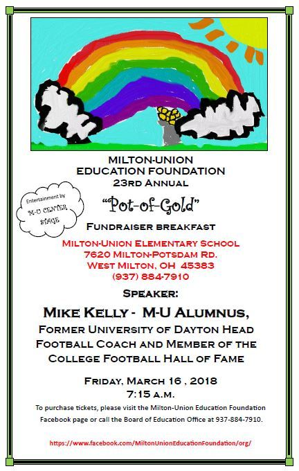 Milton-Union Education Foundation - Pot-of-Gold Breakfast