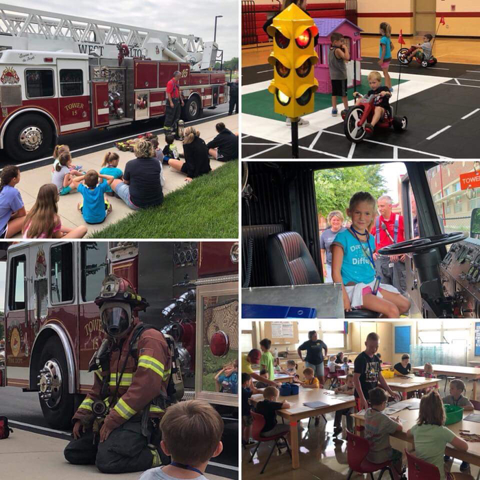 Collage of images from Safety Town June 2018
