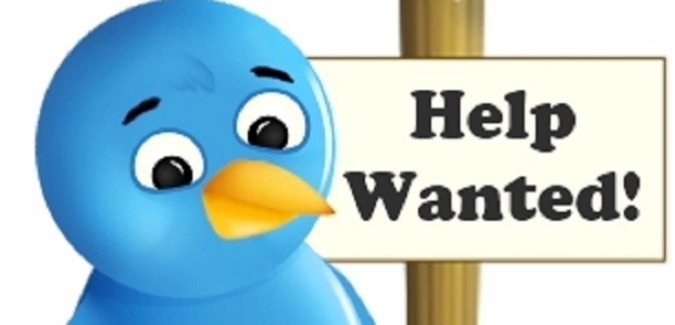 bird with help wanted sign