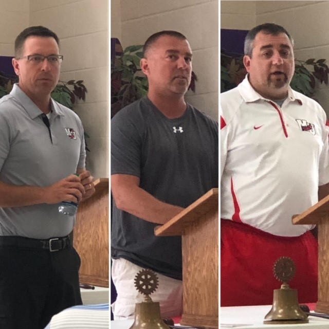 WM Rotary Meeting - Fall Coaches 8.13.18