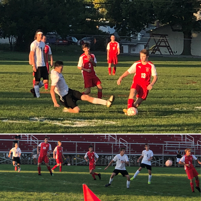 Boys soccer action against P. Shawnee - 8.30.18