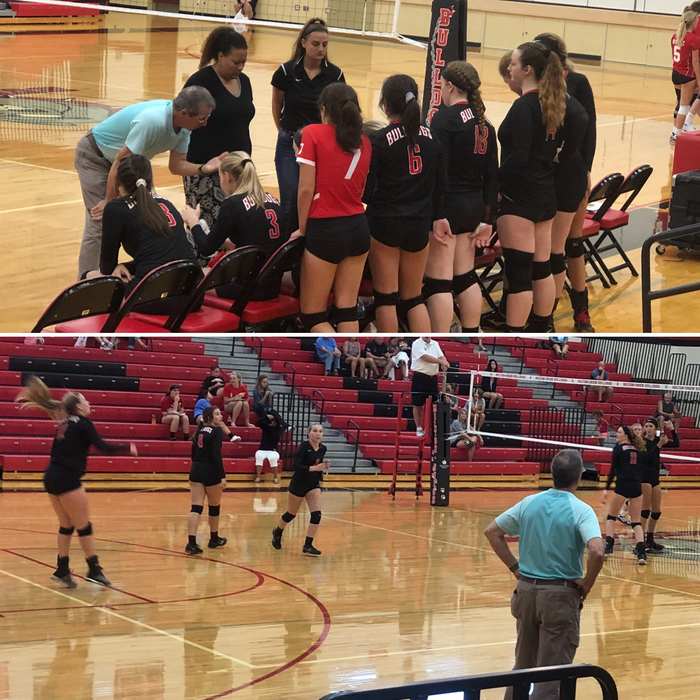 Volleyball match against Dixie - 9.4.18