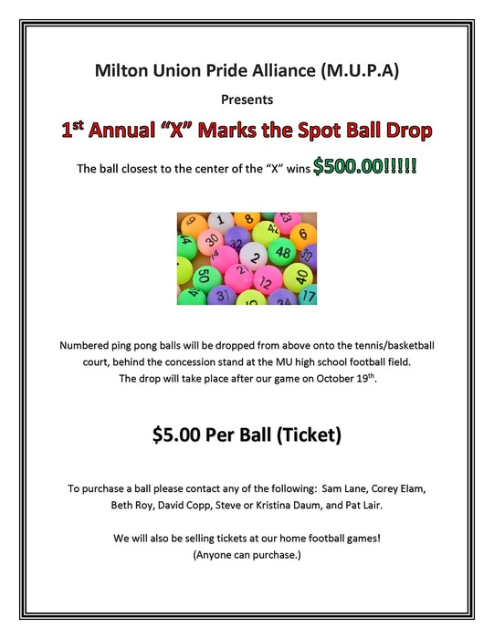 $5.00 ball drop October 19