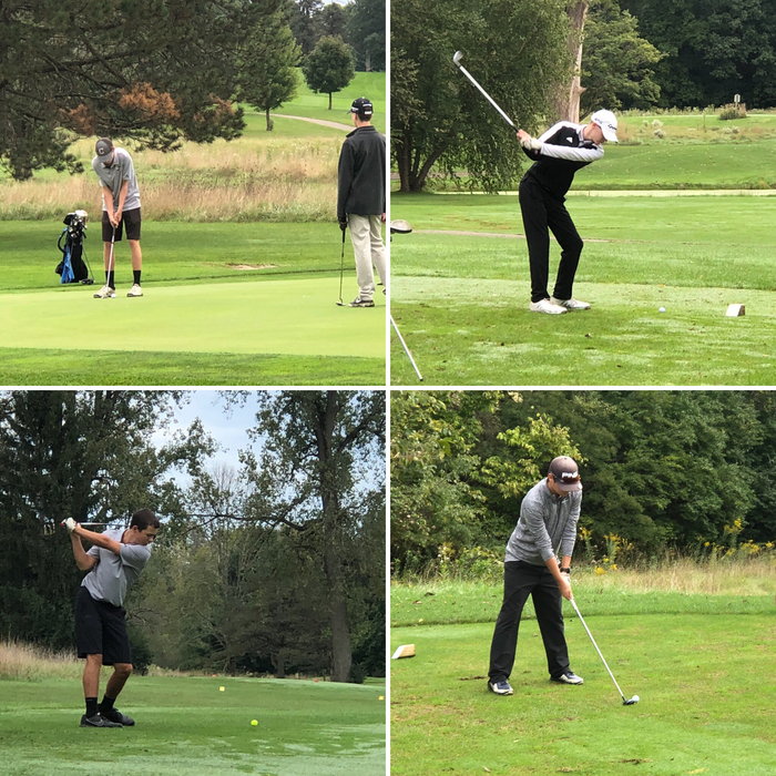Bulldog golfers at sectionals at Springfield - 9.27.18