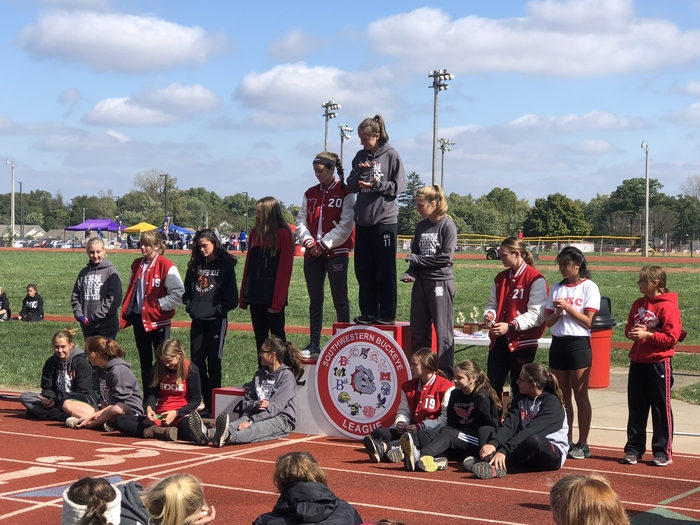 SWBL Girls Cross-country award winners - 10.13.18