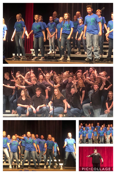 Choir concert collage - 10.29.18