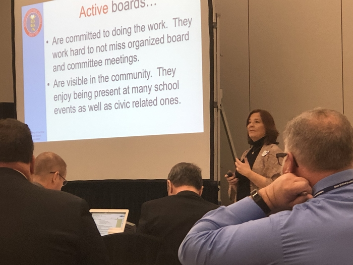 OSBA's Cheryl Ryan presenting on effective board governance