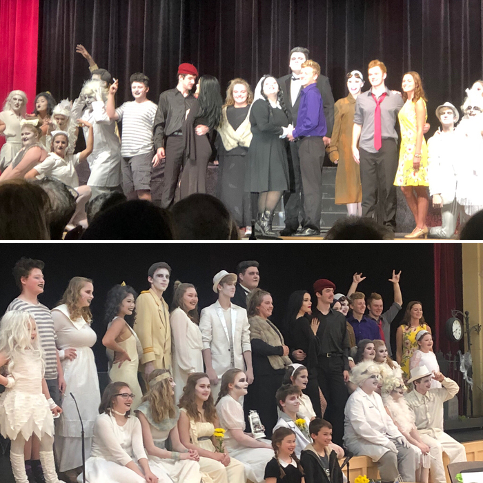 The Addams Family opening night 11-16-18
