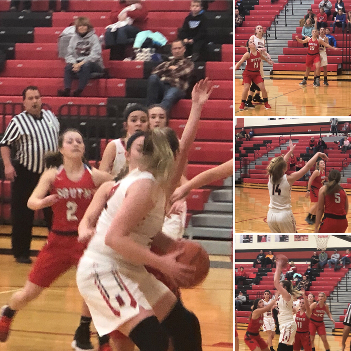 Lady Bulldog basketball versus Twin Valley South