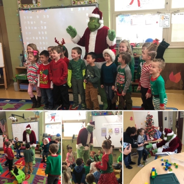 "The ""Grinch"" visiting classrooms"