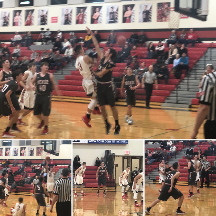 Boys basketball against Dixie 12.7.18