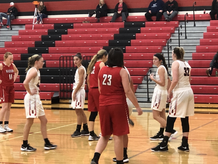 Girls basketball versus Madison 12.15.17
