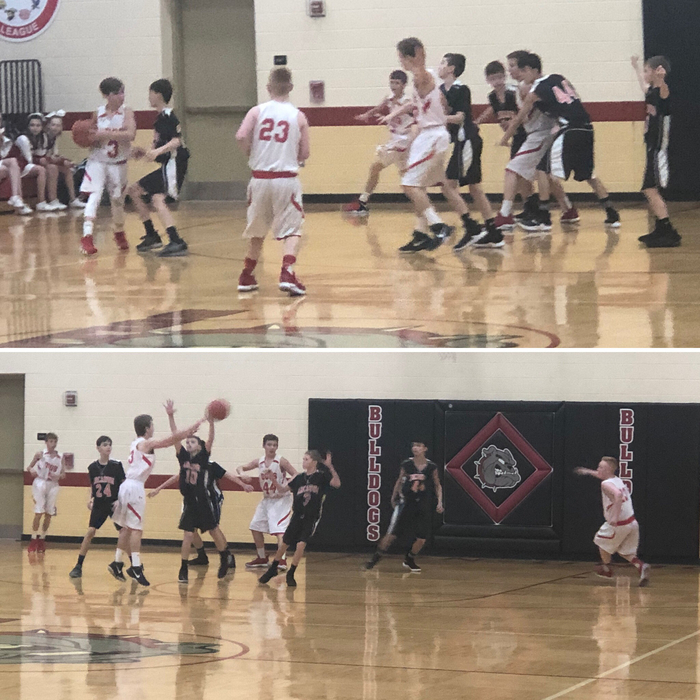 Middle school basketball against Arcanum