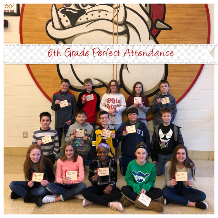 6th perfect attendance