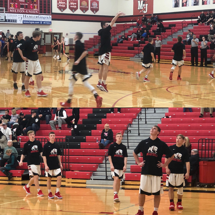 Warm-ups against Waynesville on 1.23.19