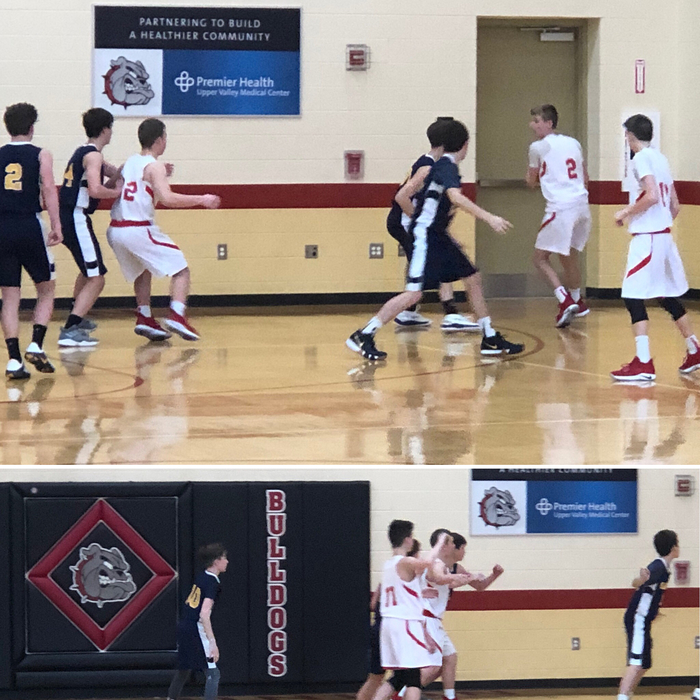 8th grade boys basketball against Oakwood 1.26.19