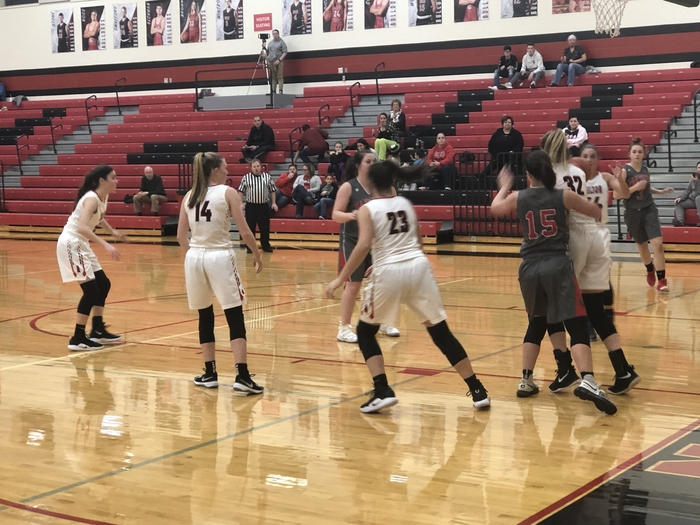 Lady Bulldog basketball against Tri-County North - 1.28.19