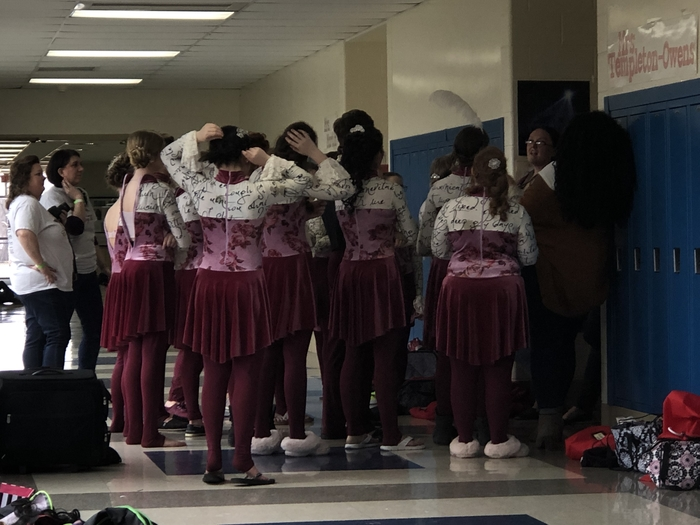 Winterguard debriefing after the Kettering show