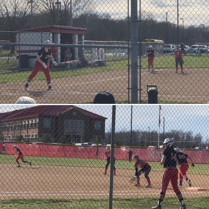 Bulldog softball against Carlisle - 4.3.19