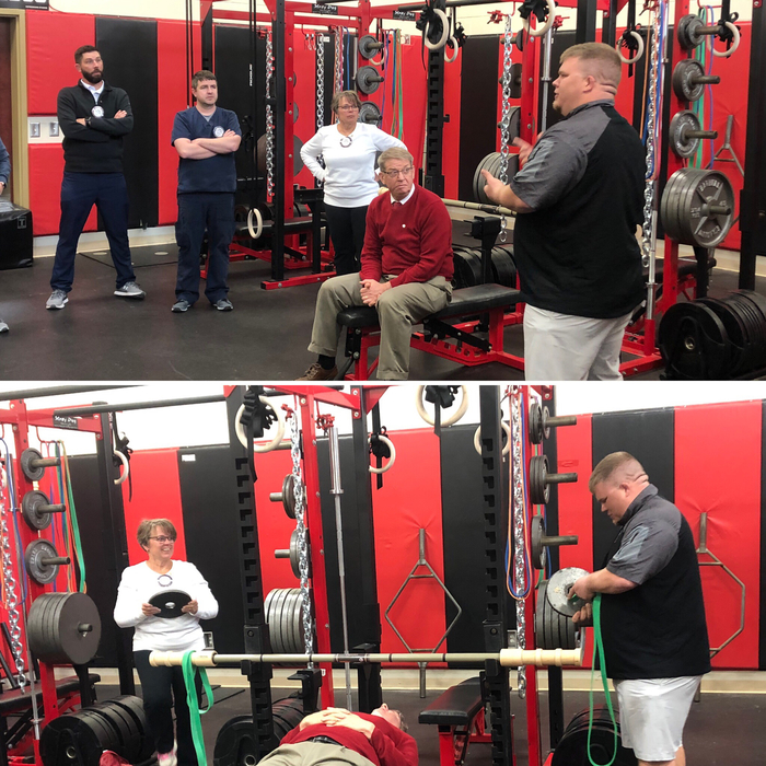 Rotary meeting 4.15.19 - Milton-Union weightroom