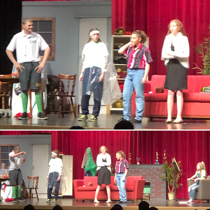 Middle school drama opening night April 25, 2019