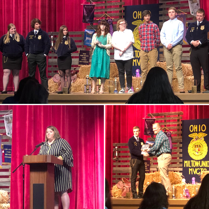 Senior FFA students and Honorary Award