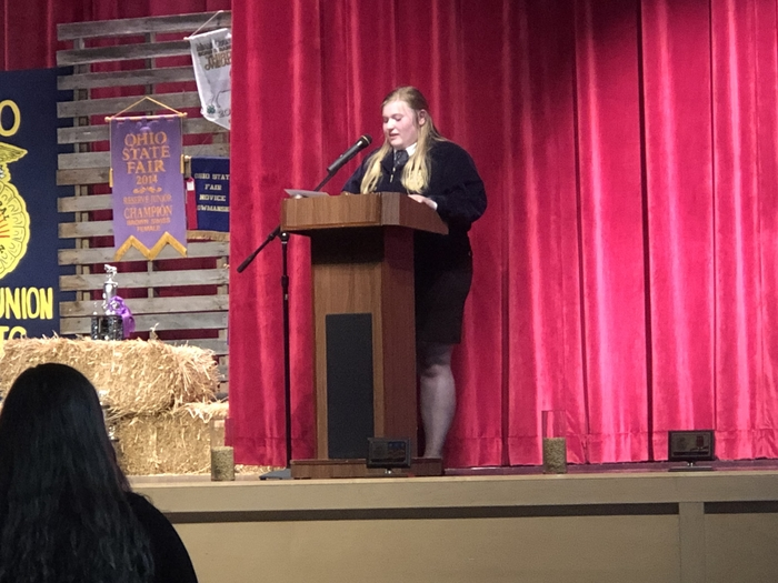 Jessica Leffew outgoing FFA President remarks