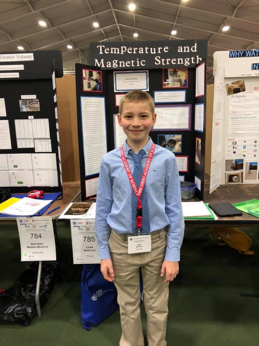 Liam Hartley at the State Science Fair