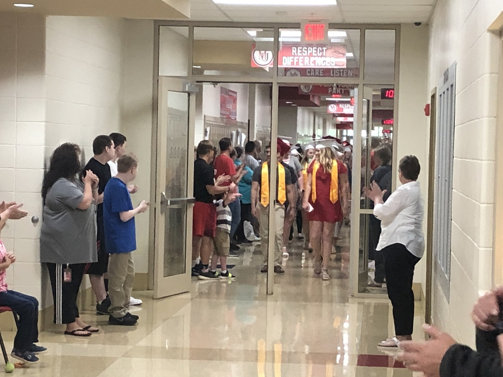 "Senior ""Clap-out"" following their awards ceremony"