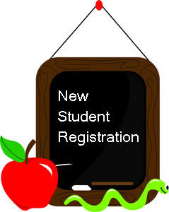 new student registration chalkboard