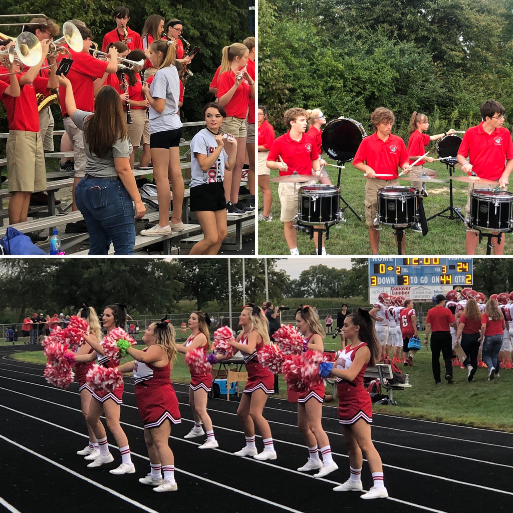 Band & Cheerleaders - @ Miami East 8.30.19