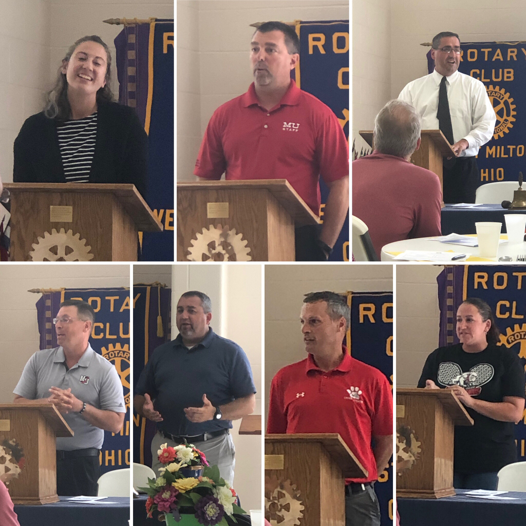 Fall coaches speaking at Rotary - 9.9.19
