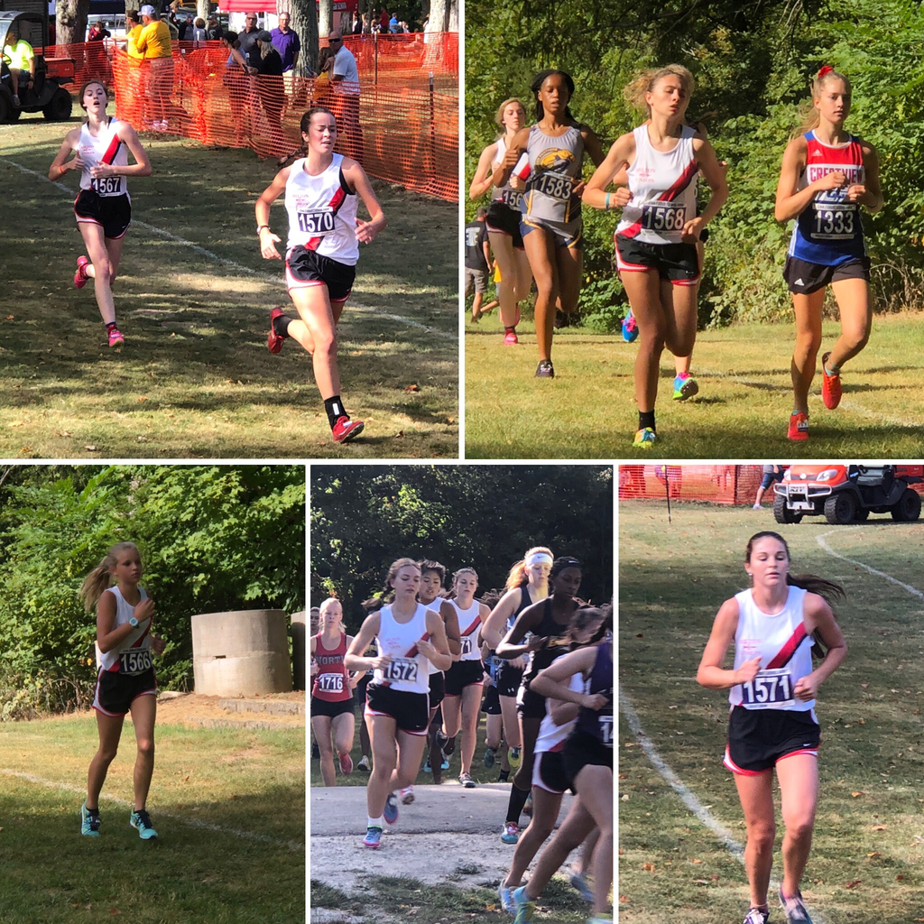 Bulldog girls cross-country at Eaton - 9.14.19