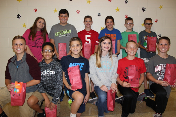 7th Grade September winners