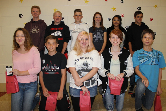 8th Grade September winners