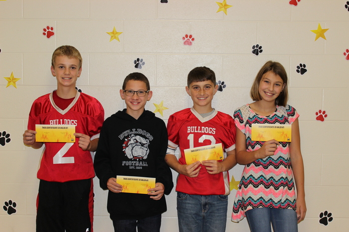6th Grade nominees