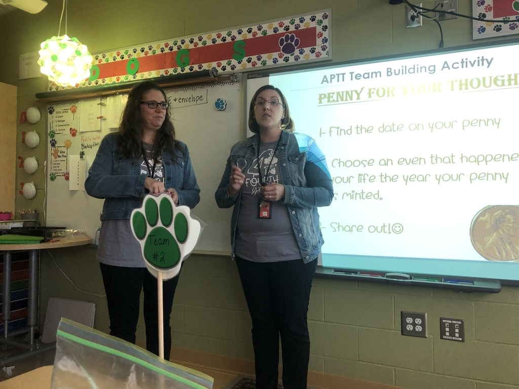 Mrs. Lane & Ms. Pottorf during APTT Night - 10.3.19.