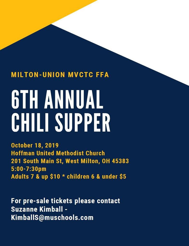Annual Chili Supper Flyer