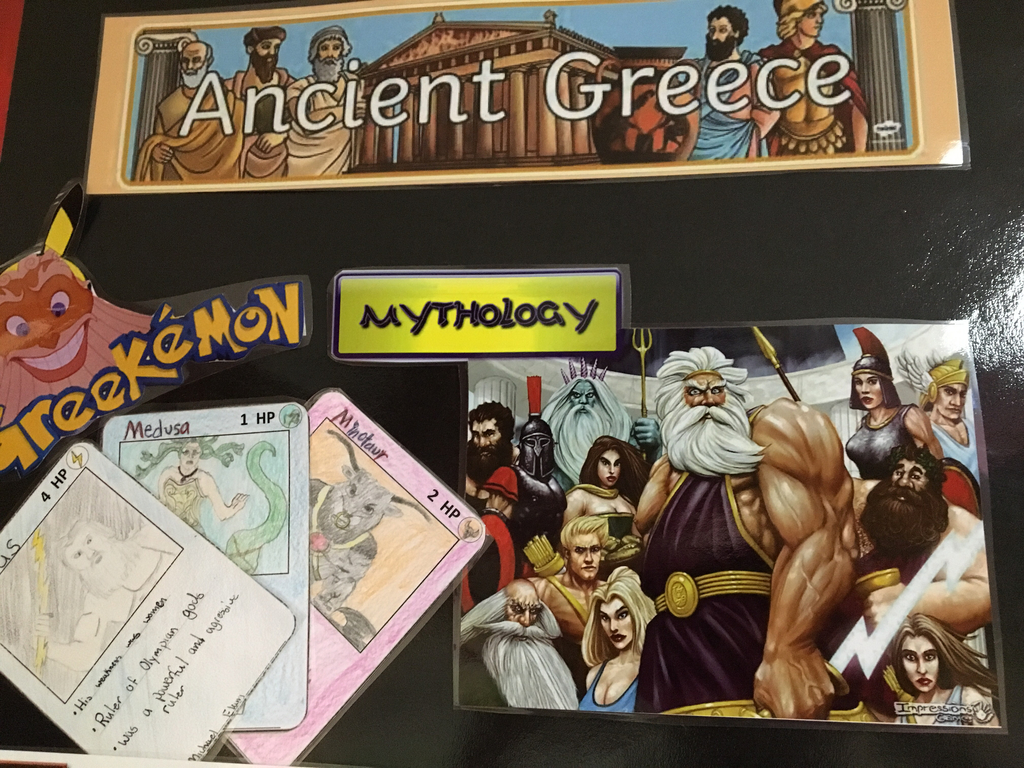 7th graders are wrapping up the Ancient Greece Unit
