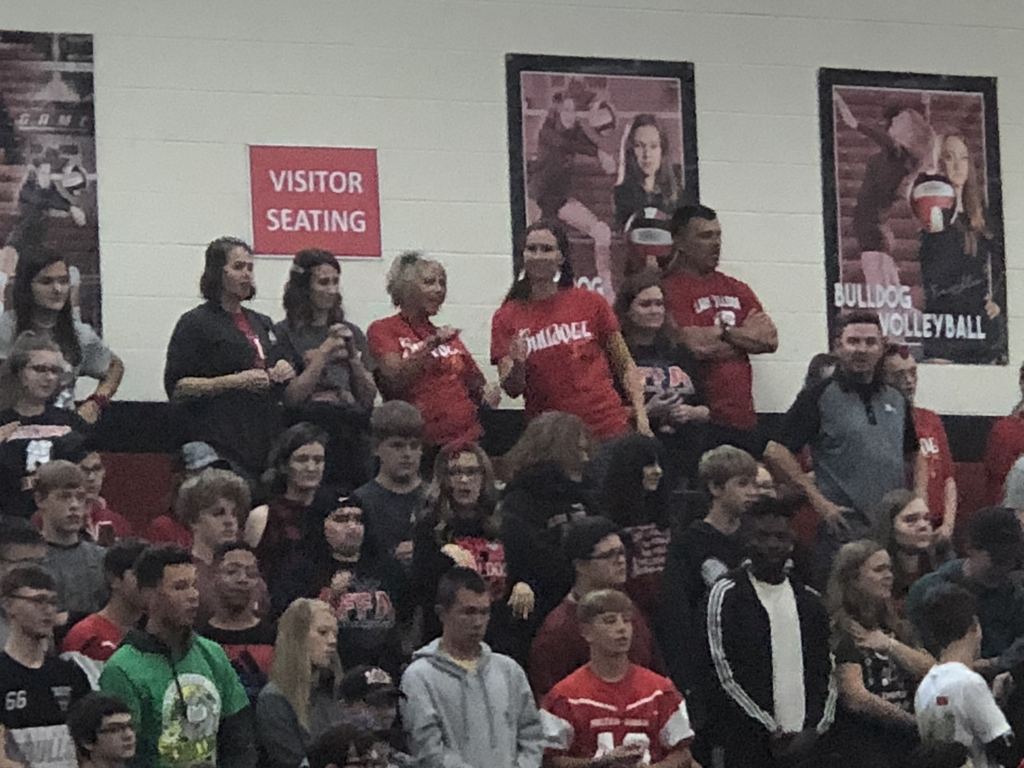 High School teachers at the district pep rally.