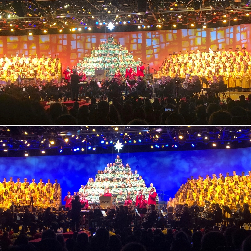 Candlelight Processional at Epcot - 12.9.19