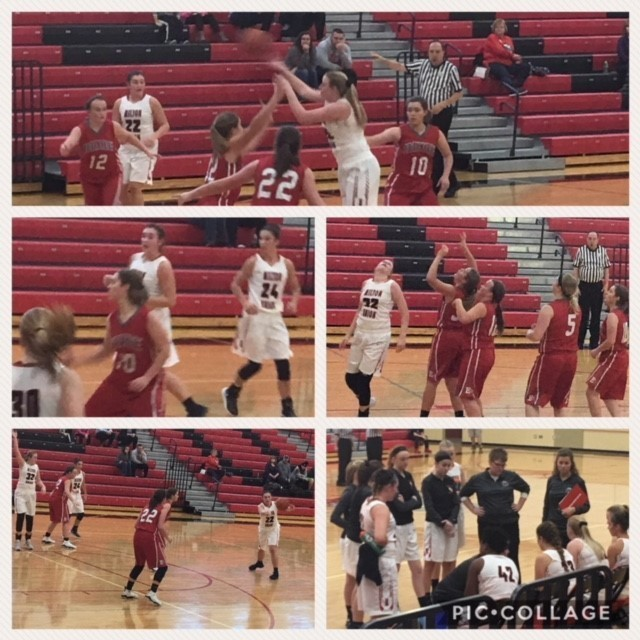 Girls basketball game versus Dixie