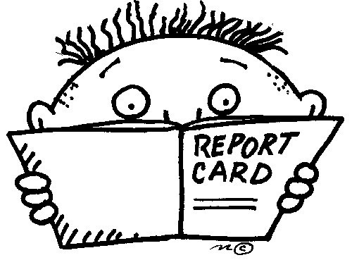 cartoon report card