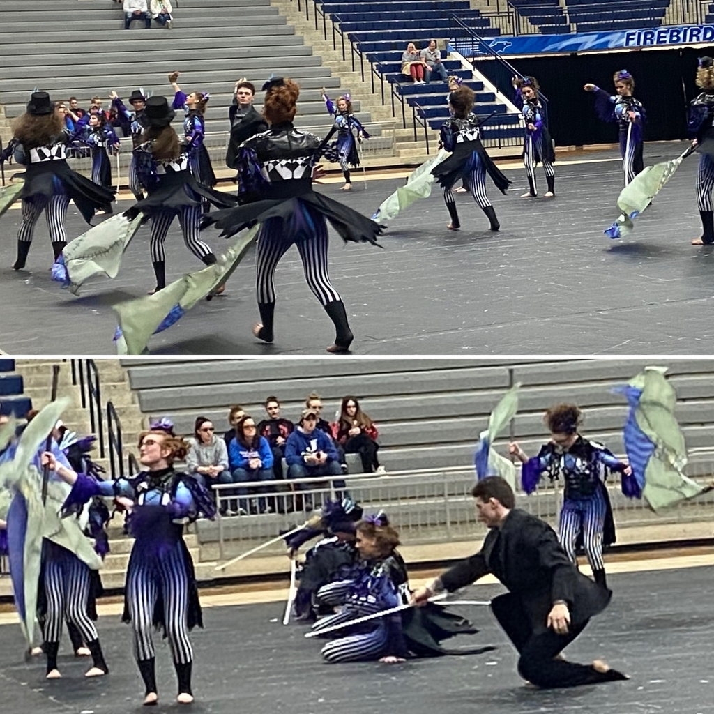 Winterguard performing at Kettering Fairmont HS - 2.23.2020