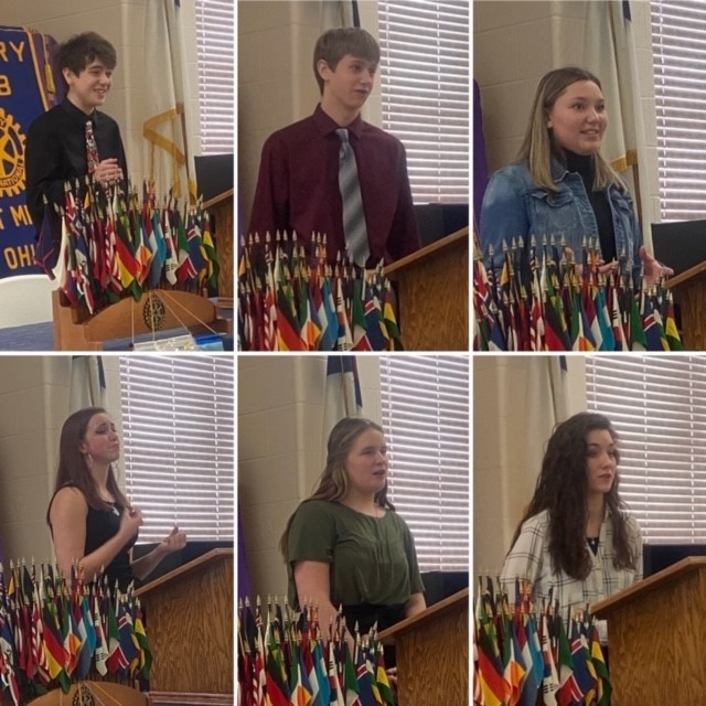 Rotary Four-Way Speech Student Participants - 2.24.2020