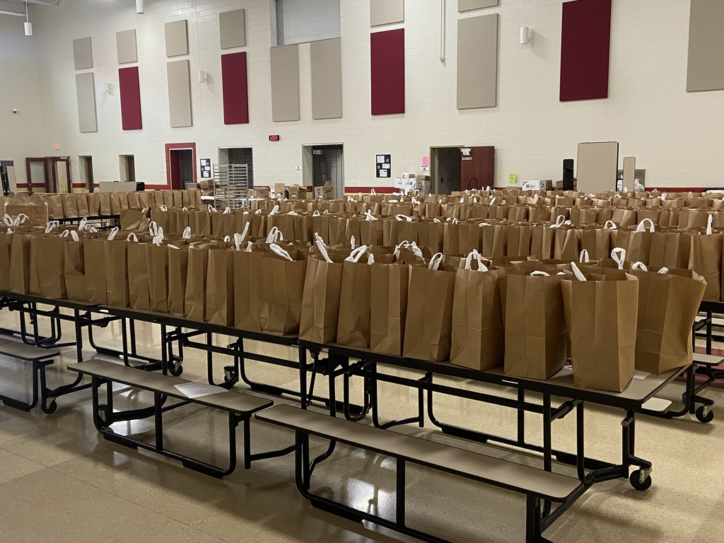 Prep for lunch distribution Monday, March 23, 2020