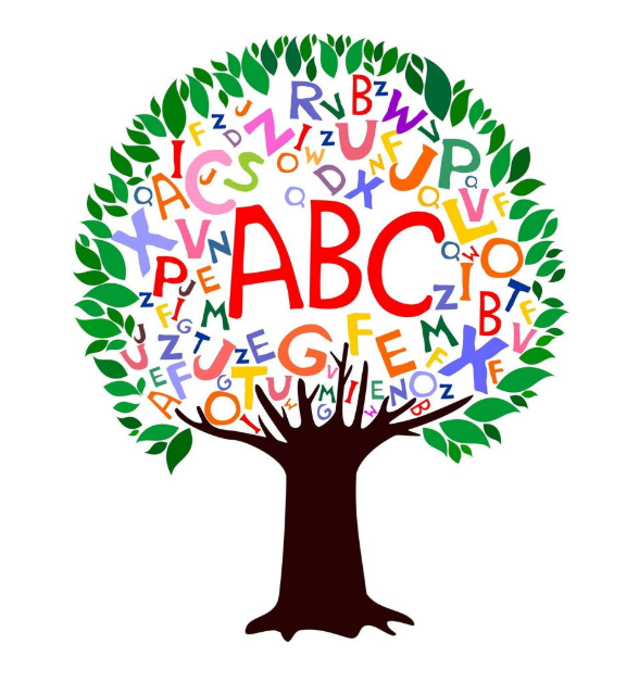 Image of a tree with the alphabet included