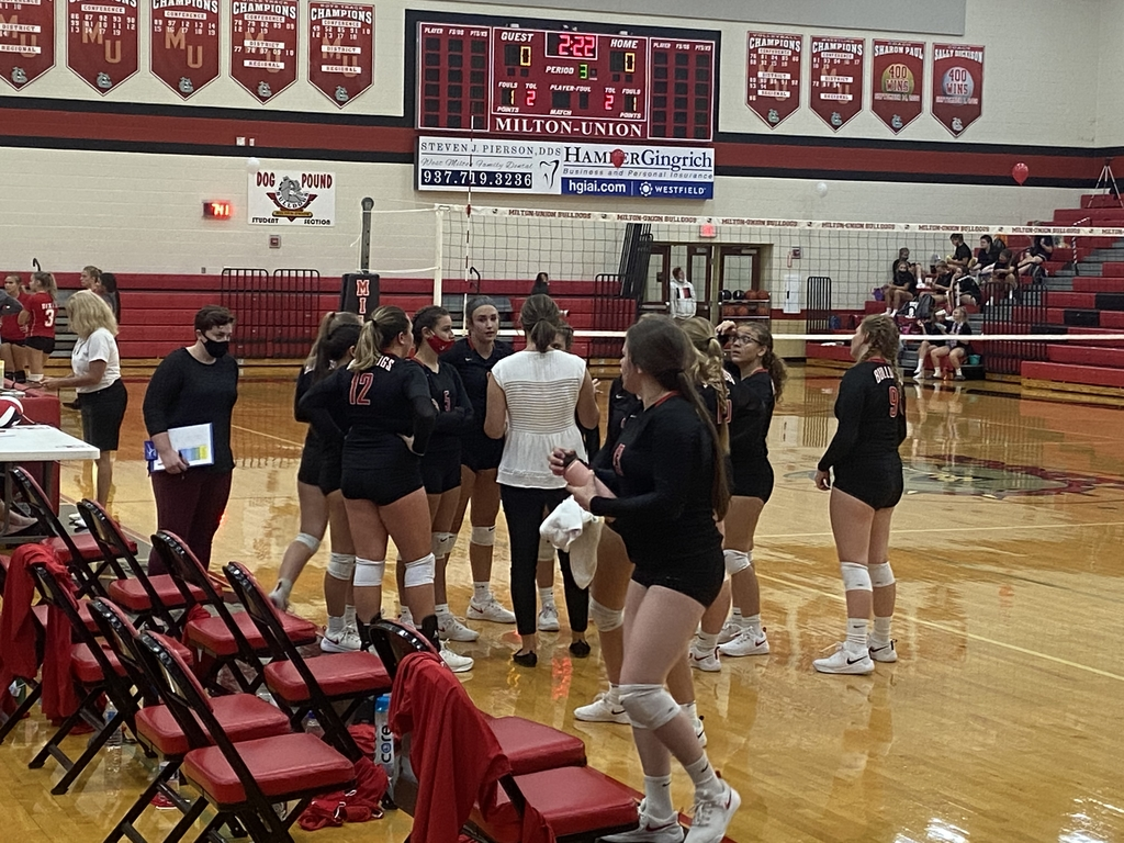 Coach Wion and varsity volleyball players - 9.10.2020
